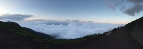 It was surprising how quickly we got above the clouds