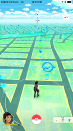 This is the virtual landscape showing where the PokeStops are located.