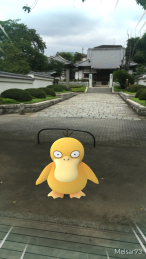 Temples and Shrines are often PokeStops.